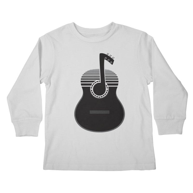 Classical Notes Kids Longsleeve T-Shirt by DavidBS