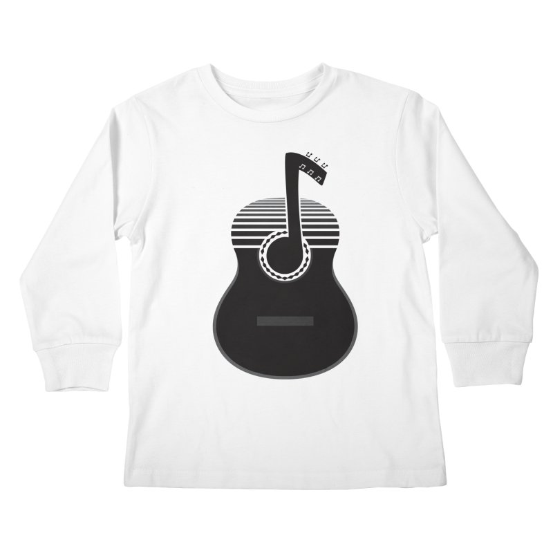 Classical Notes Kids Longsleeve T-Shirt by DavidBS