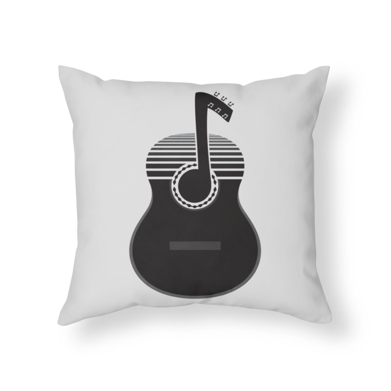Classical Notes Home Throw Pillow by DavidBS
