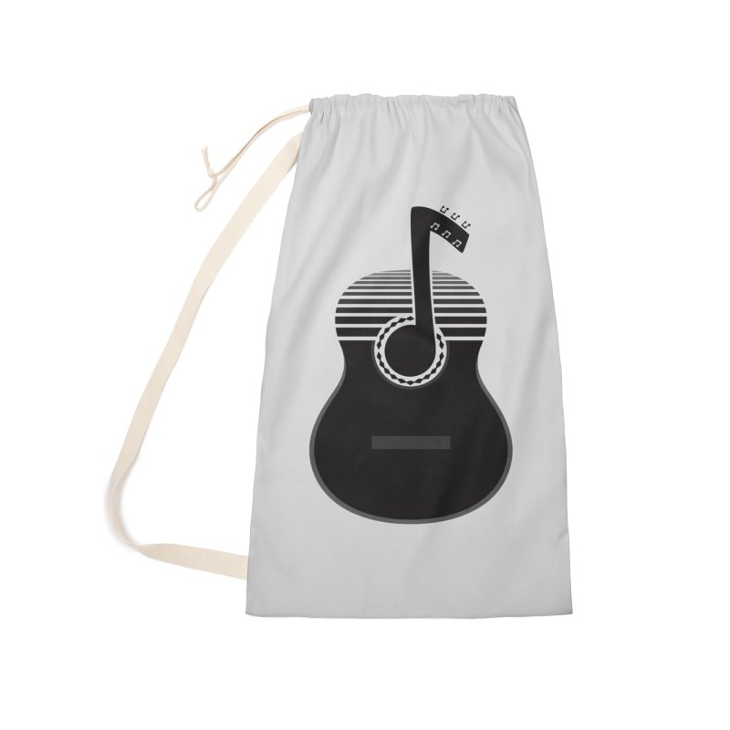 Classical Notes Accessories Laundry Bag Bag by DavidBS