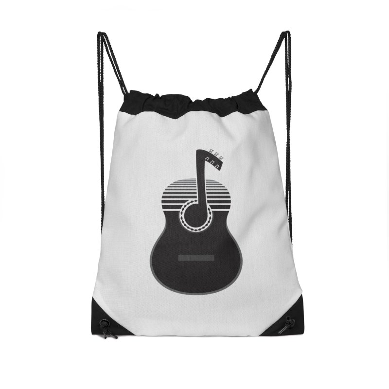 Classical Notes Accessories Drawstring Bag Bag by DavidBS