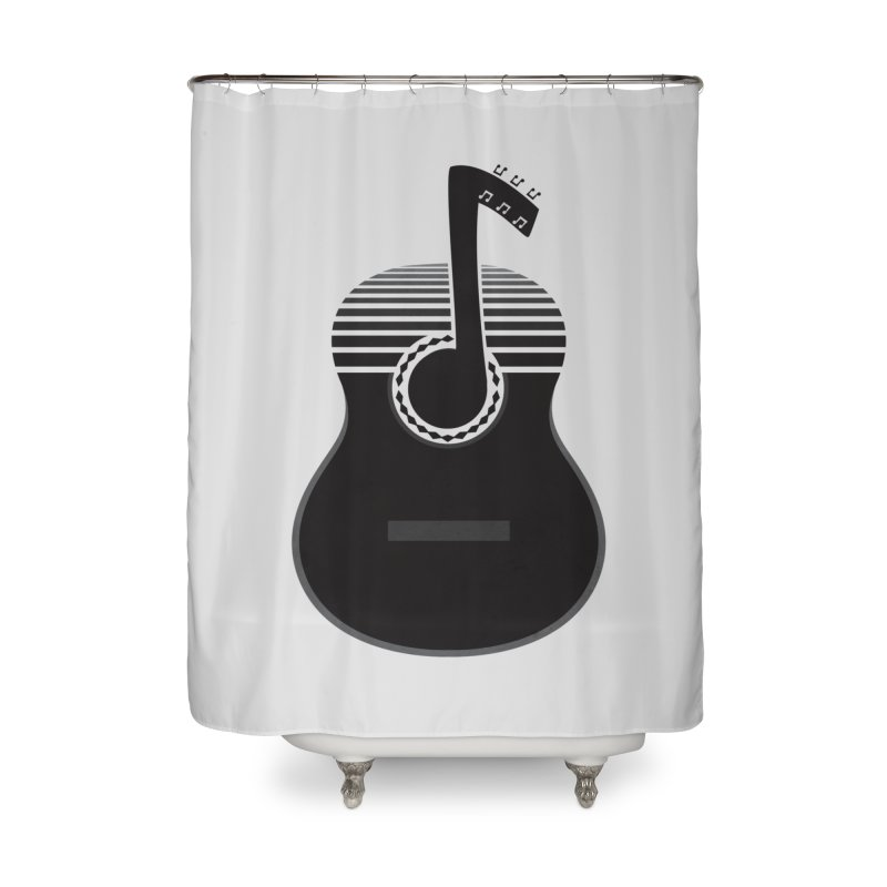 Classical Notes Home Shower Curtain by DavidBS