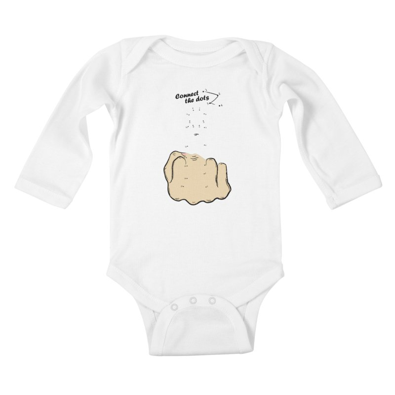 Connect the Dots Kids Baby Longsleeve Bodysuit by DavidBS