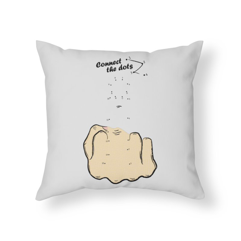 Connect the Dots Home Throw Pillow by DavidBS