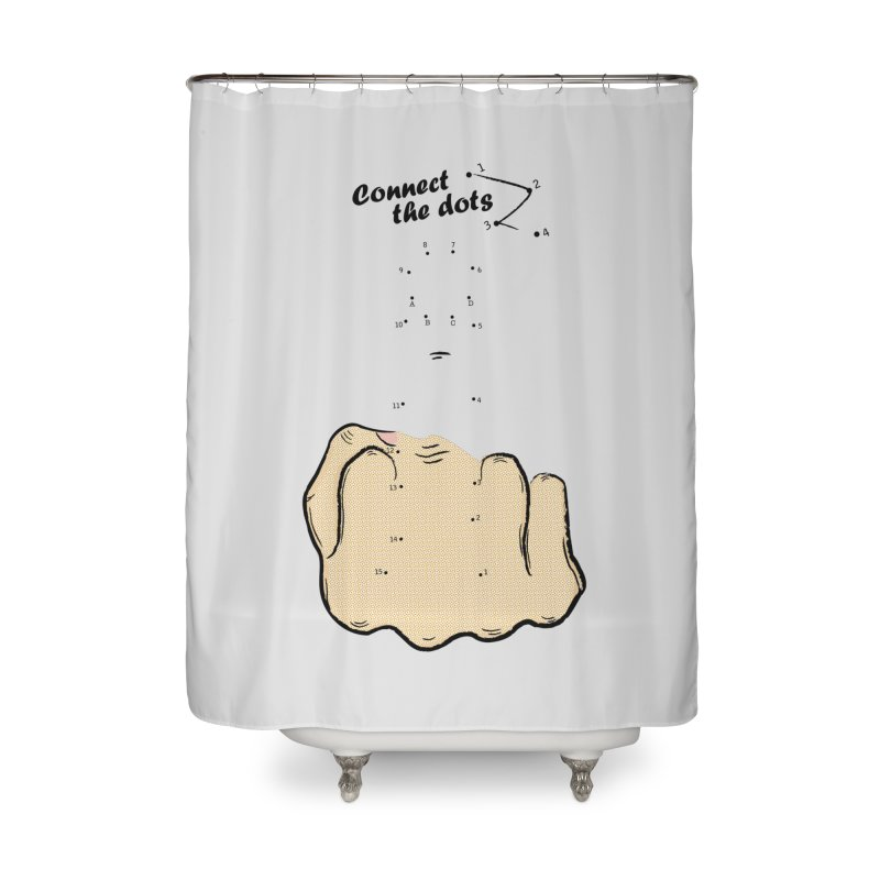 Connect the Dots Home Shower Curtain by DavidBS