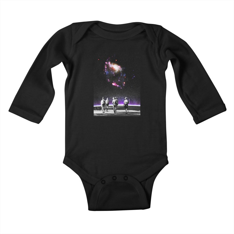 Explore the Unknown Kids Baby Longsleeve Bodysuit by DavidBS