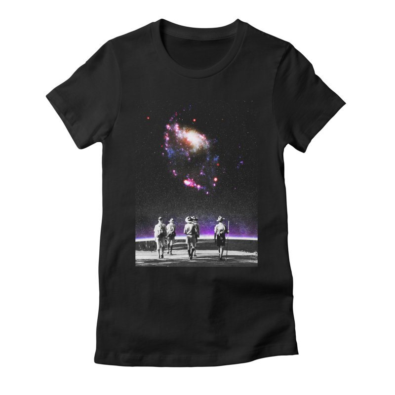 Explore the Unknown Women's Fitted T-Shirt by DavidBS