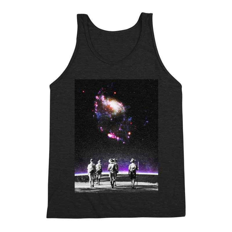 Explore the Unknown Men's Triblend Tank by DavidBS