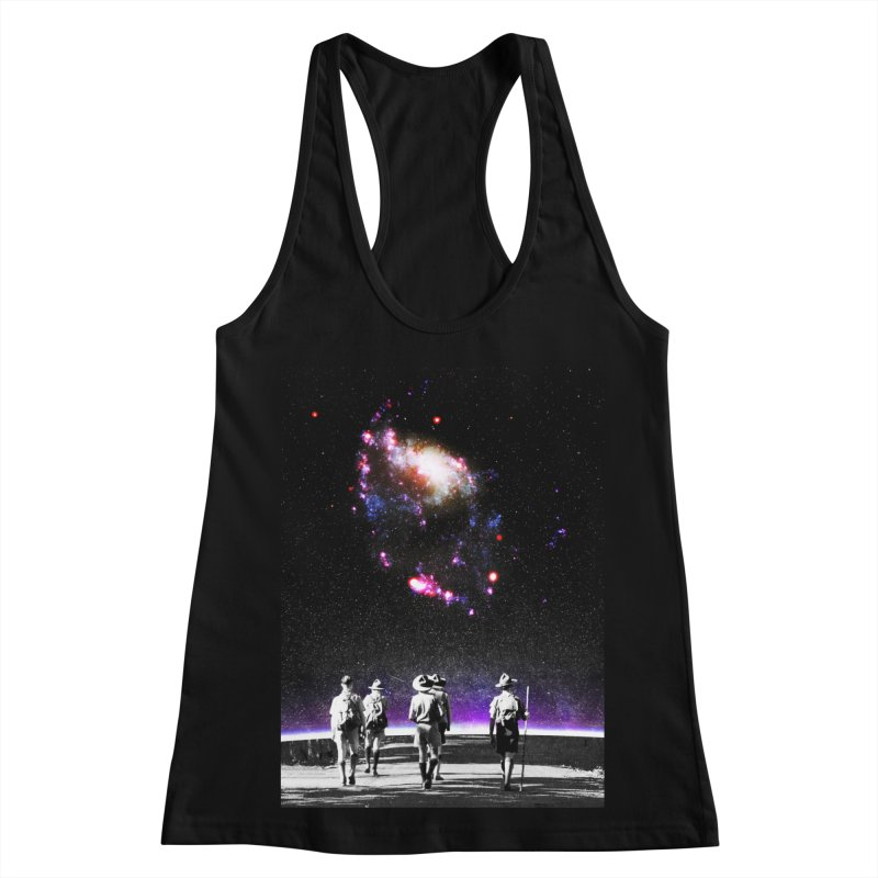 Explore the Unknown Women's Racerback Tank by DavidBS