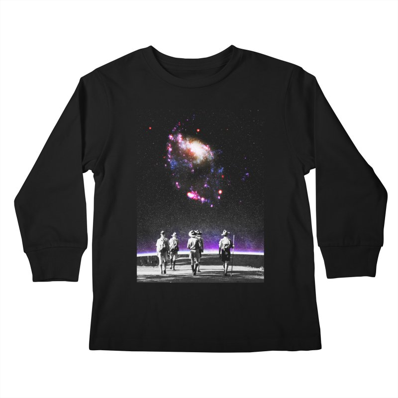 Explore the Unknown Kids Longsleeve T-Shirt by DavidBS