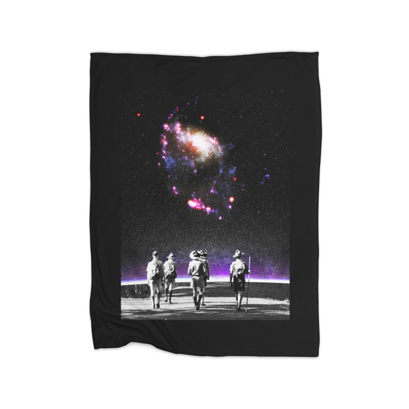Explore the Unknown Home Fleece Blanket Blanket by DavidBS