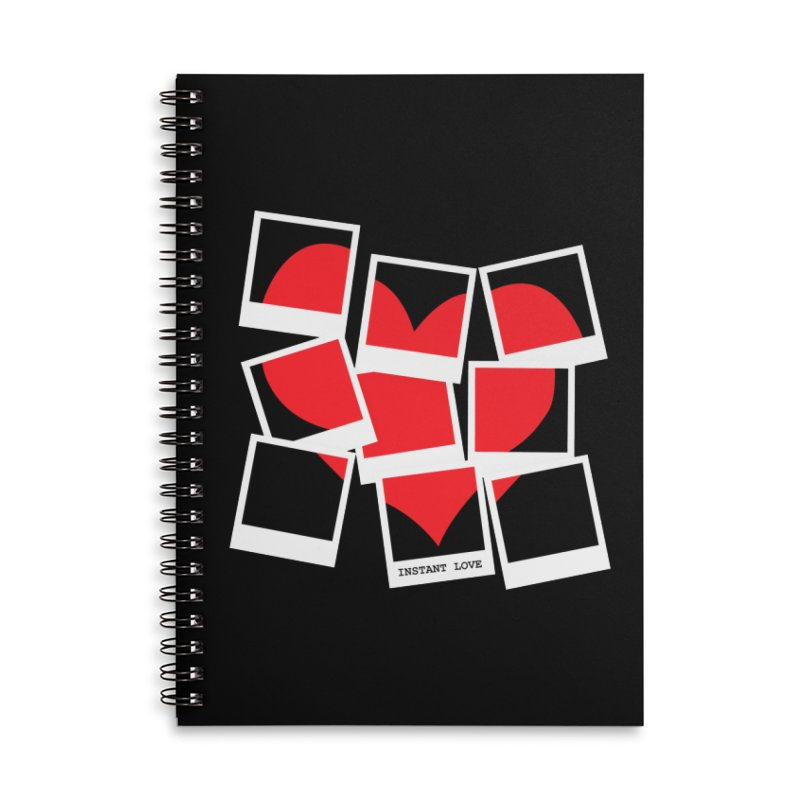 Instant Love Accessories Lined Spiral Notebook by DavidBS