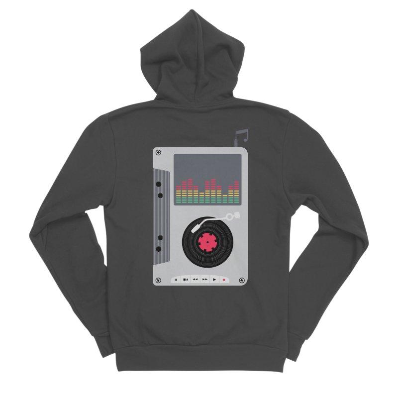 Music Mix Men's Sponge Fleece Zip-Up Hoody by DavidBS