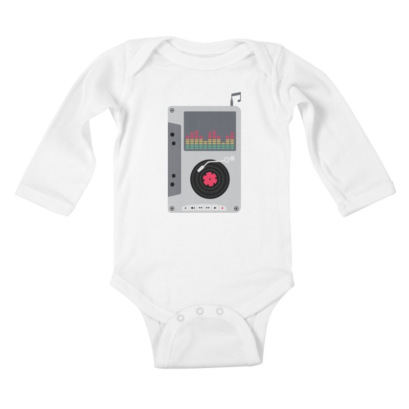 Music Mix Kids Baby Longsleeve Bodysuit by DavidBS