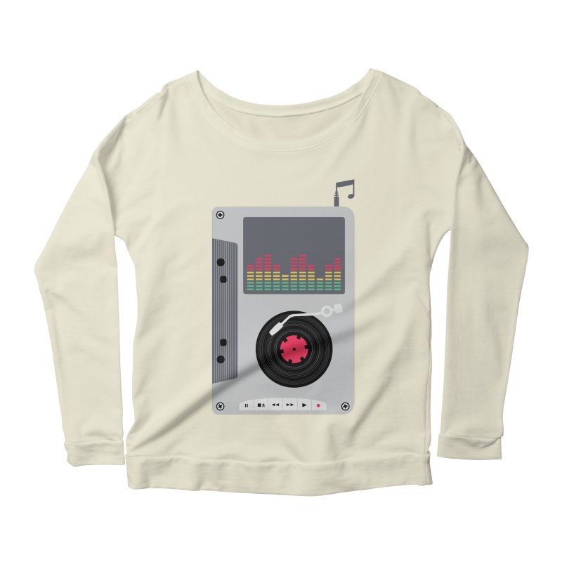 Music Mix Women's Scoop Neck Longsleeve T-Shirt by DavidBS