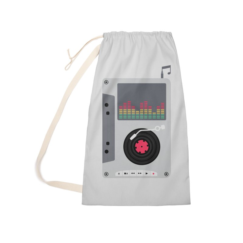 Music Mix Accessories Laundry Bag Bag by DavidBS