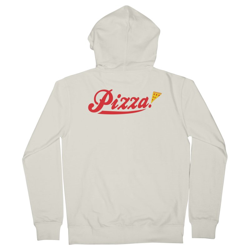 Pizza Men's French Terry Zip-Up Hoody by DavidBS
