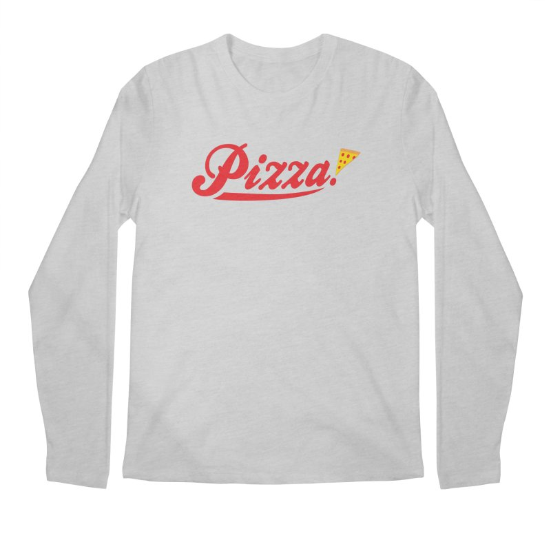 Pizza Men's Longsleeve T-Shirt by DavidBS