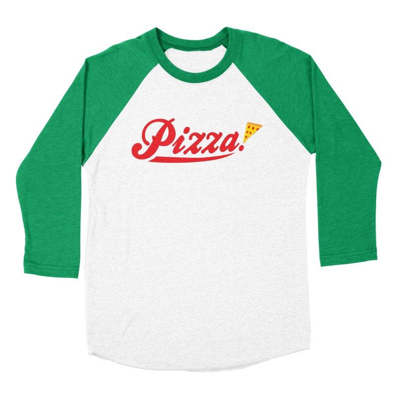 Pizza Women's Baseball Triblend Longsleeve T-Shirt by DavidBS
