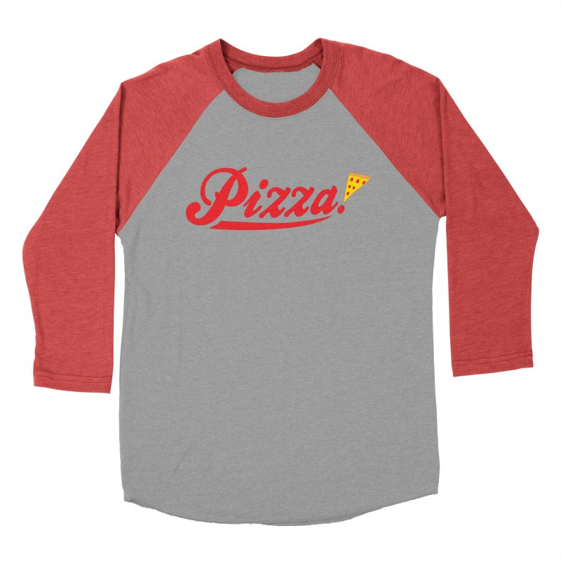 Pizza Men's Baseball Triblend T-Shirt by DavidBS