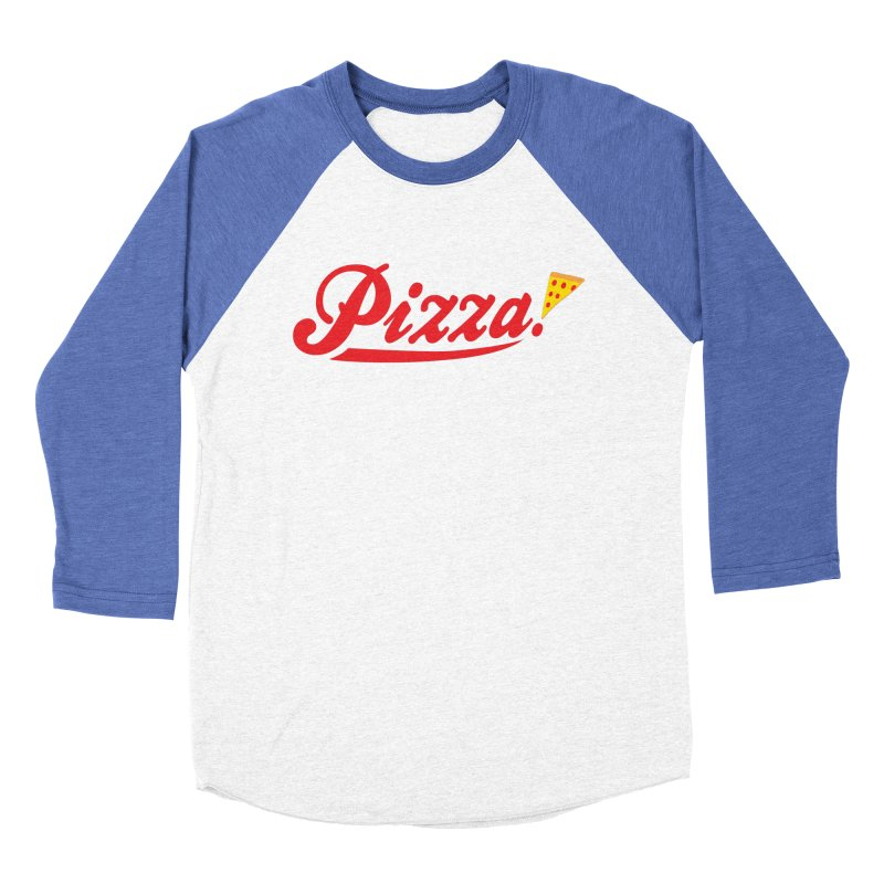 Pizza Men's Baseball Triblend Longsleeve T-Shirt by DavidBS
