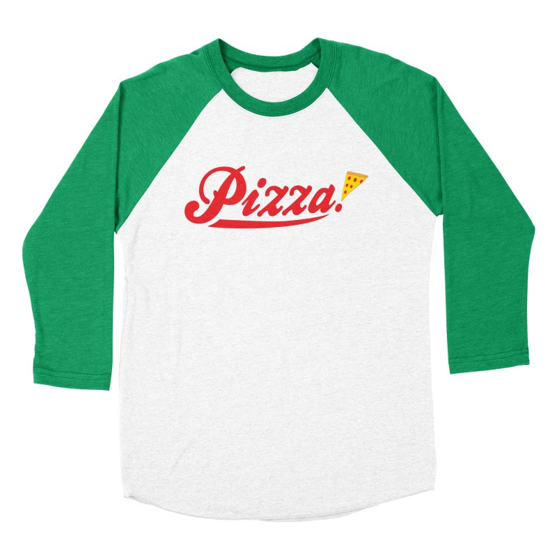 Pizza Men's Baseball Triblend T-Shirt by DavidBS