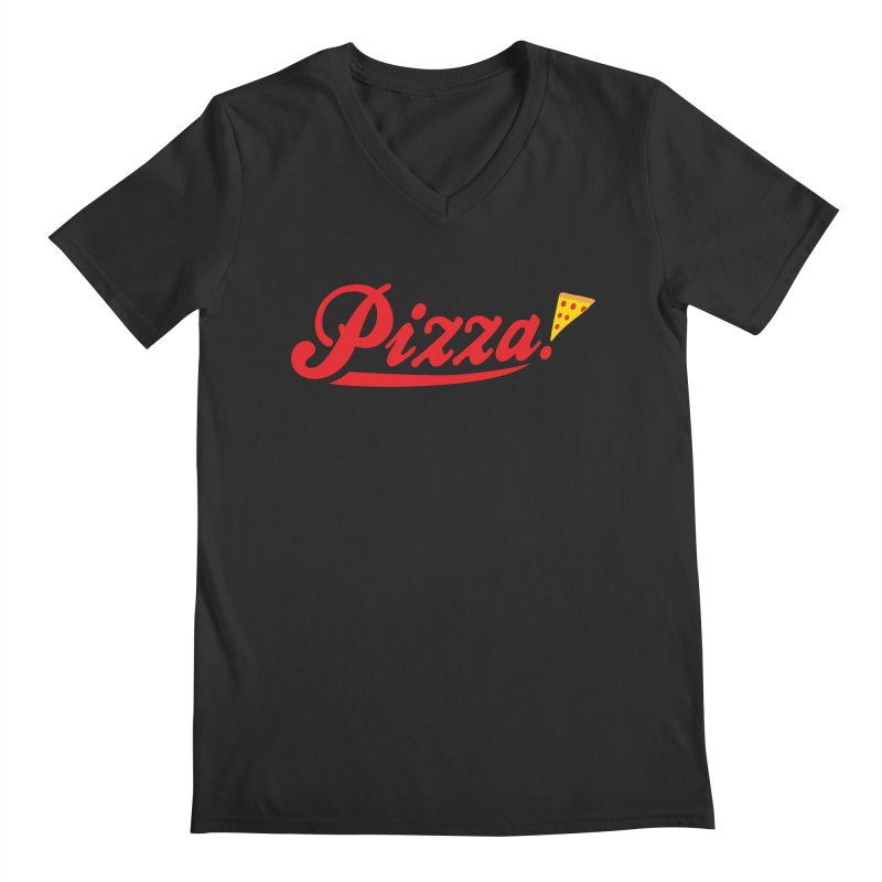 Pizza Men's Regular V-Neck by DavidBS