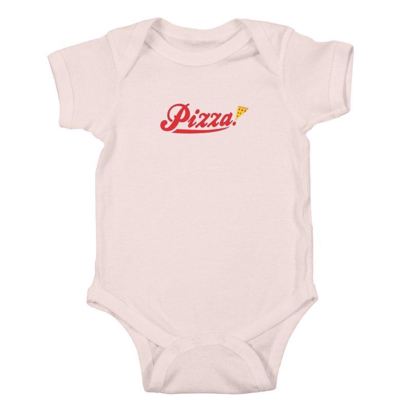 Pizza Kids Baby Bodysuit by DavidBS