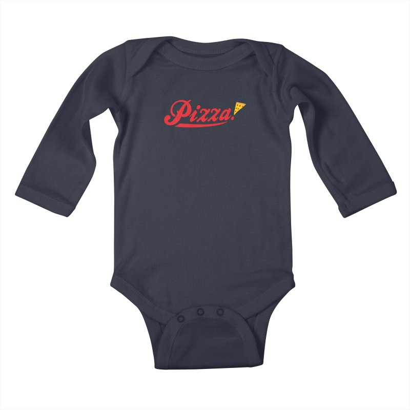 Pizza Kids Baby Longsleeve Bodysuit by DavidBS