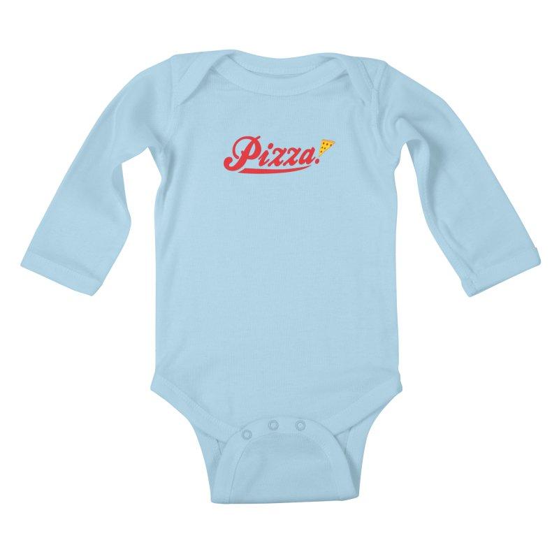 Pizza Kids Baby Longsleeve Bodysuit by DavidBS