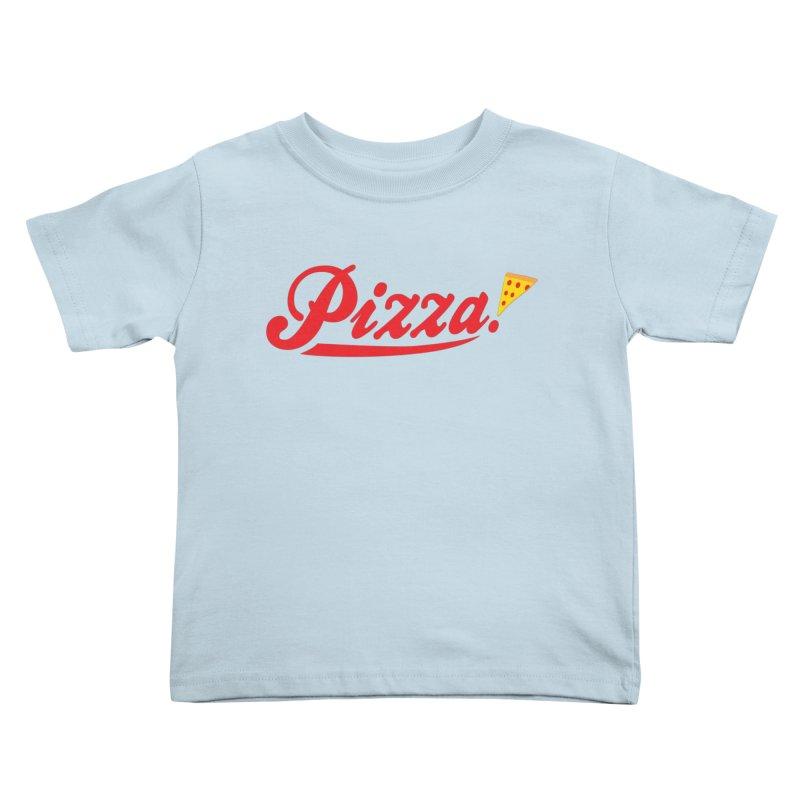 Pizza Kids Toddler T-Shirt by DavidBS