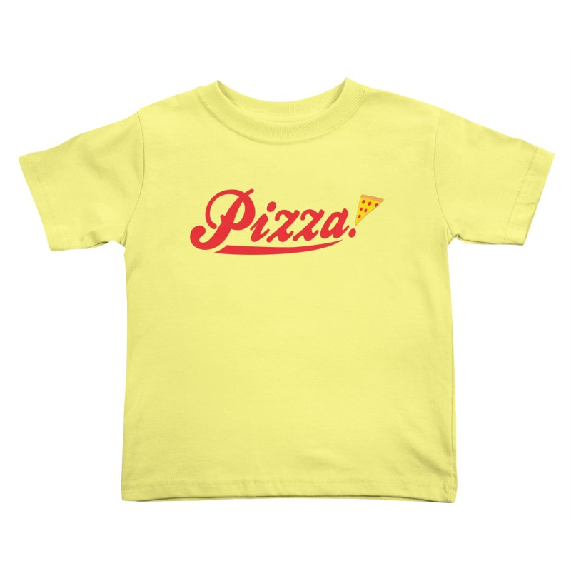 Pizza Kids Toddler T-Shirt by DavidBS