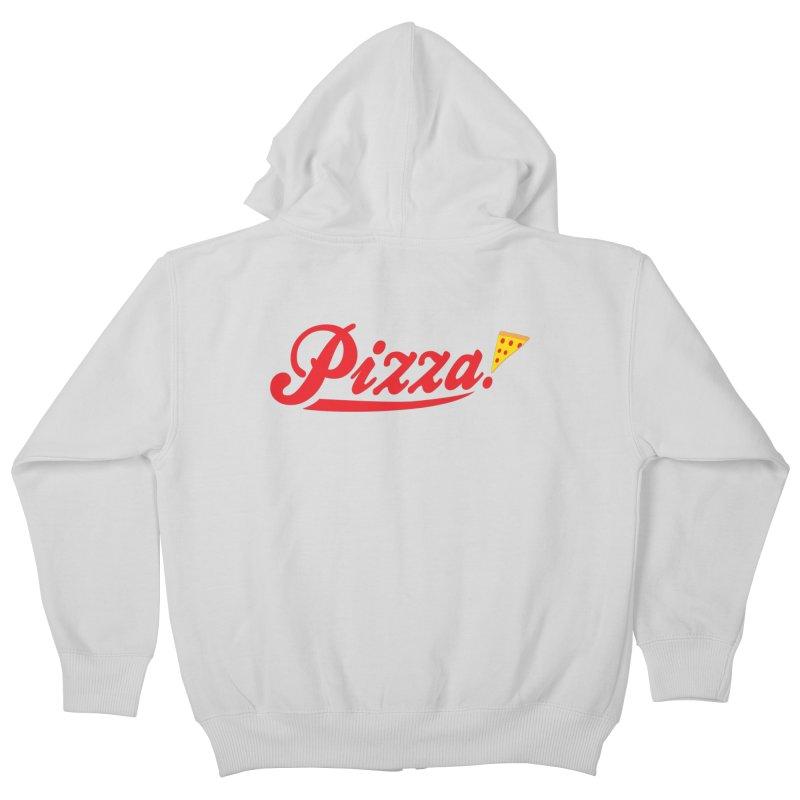 Pizza Kids Zip-Up Hoody by DavidBS