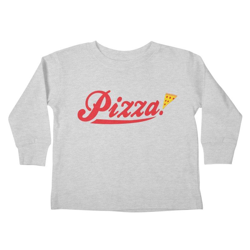 Pizza Kids Toddler Longsleeve T-Shirt by DavidBS