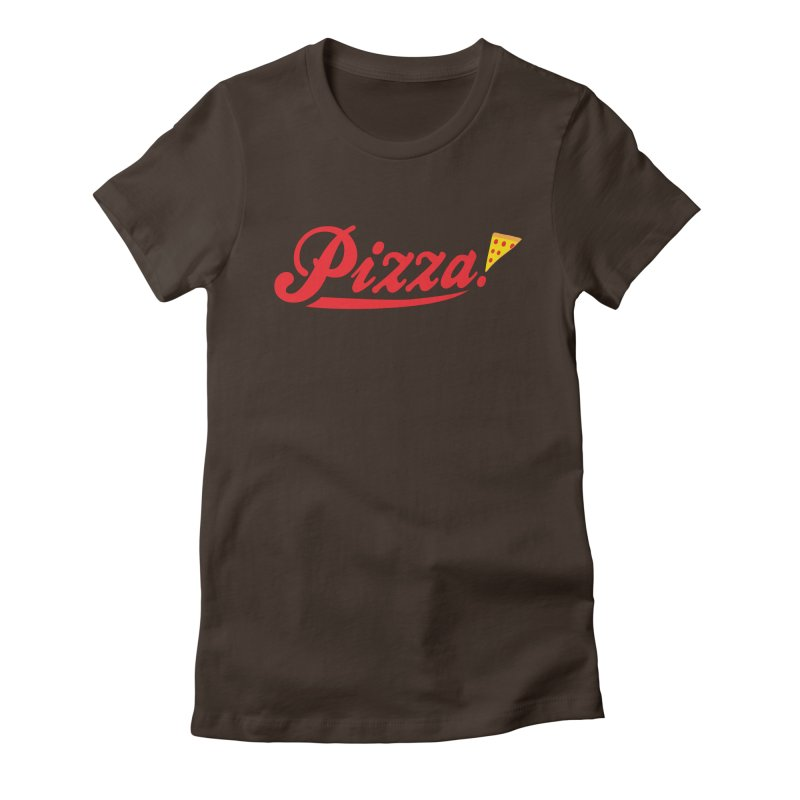 Pizza Women's Fitted T-Shirt by DavidBS