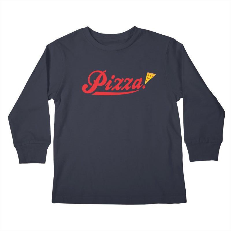 Pizza Kids Longsleeve T-Shirt by DavidBS
