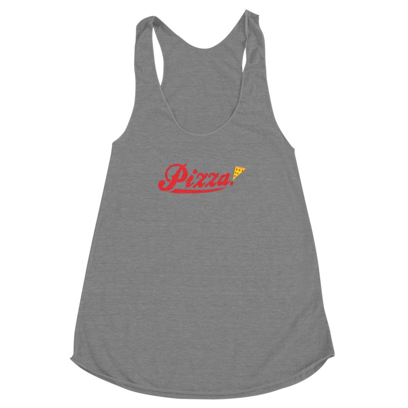 Pizza Women's Racerback Triblend Tank by DavidBS
