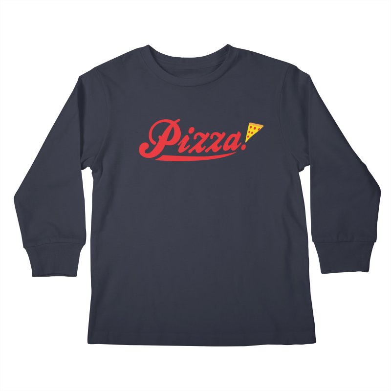 Pizza Kids Longsleeve T-Shirt by DavidBS