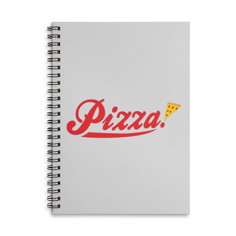 Pizza Accessories Lined Spiral Notebook by DavidBS