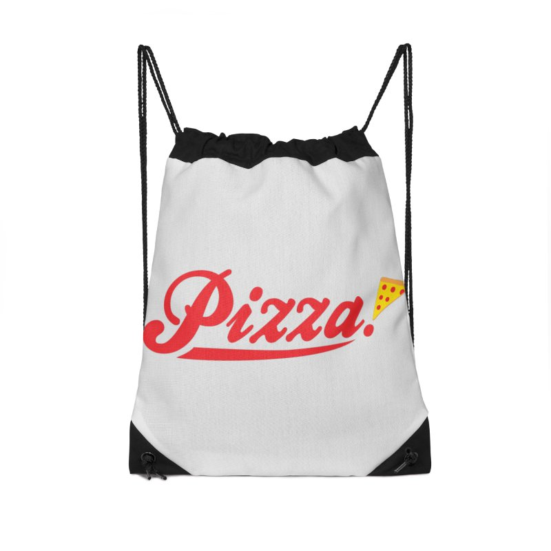 Pizza Accessories Drawstring Bag Bag by DavidBS