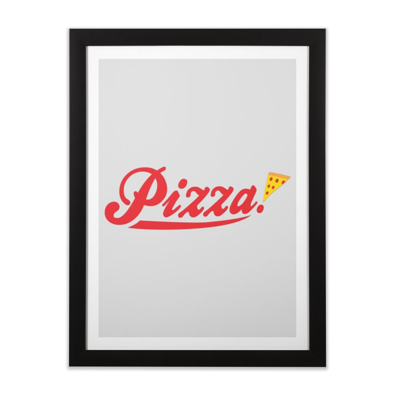 Pizza Home Framed Fine Art Print by DavidBS