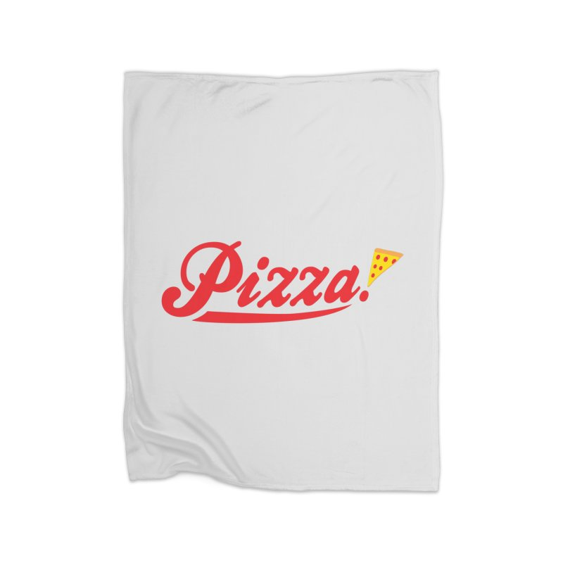 Pizza Home Fleece Blanket Blanket by DavidBS