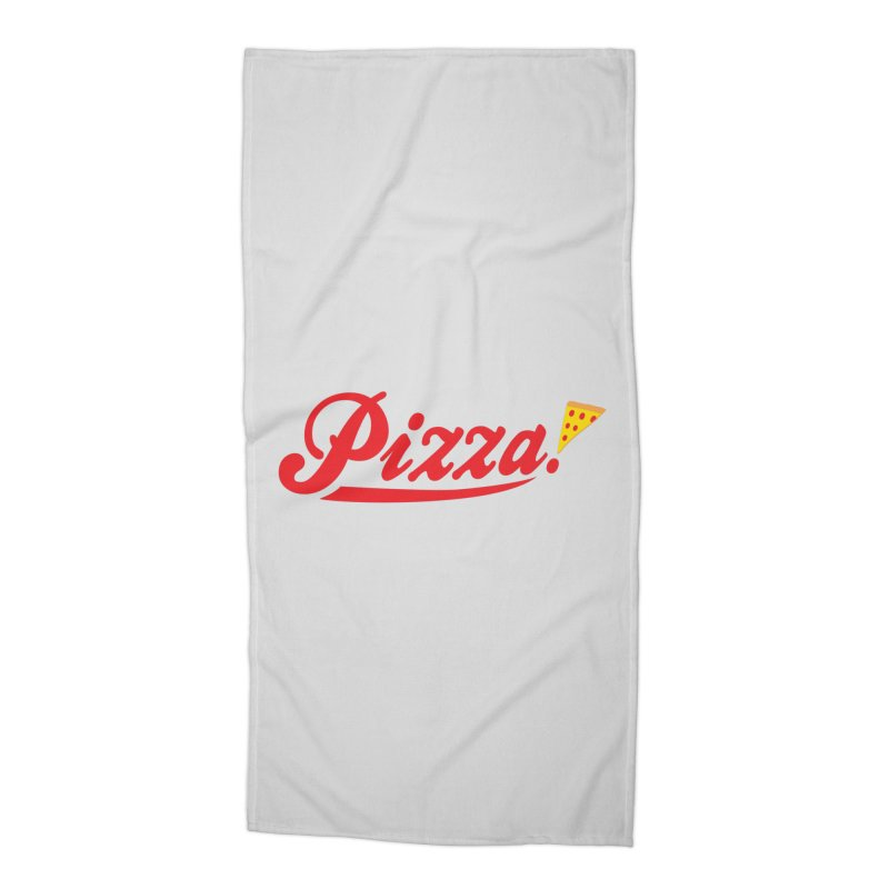 Pizza Accessories Beach Towel by DavidBS