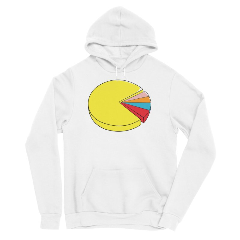 Pacman Pie Chart Men's Pullover Hoody by DavidBS