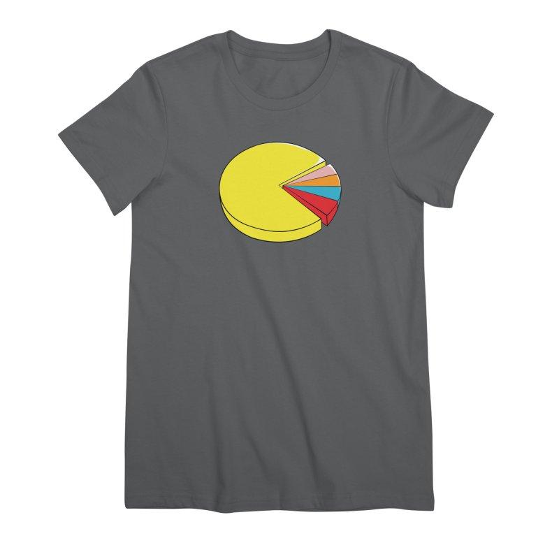 Pacman Pie Chart Women's Premium T-Shirt by DavidBS