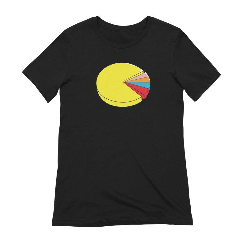 Pacman Pie Chart Women's Extra Soft T-Shirt by DavidBS
