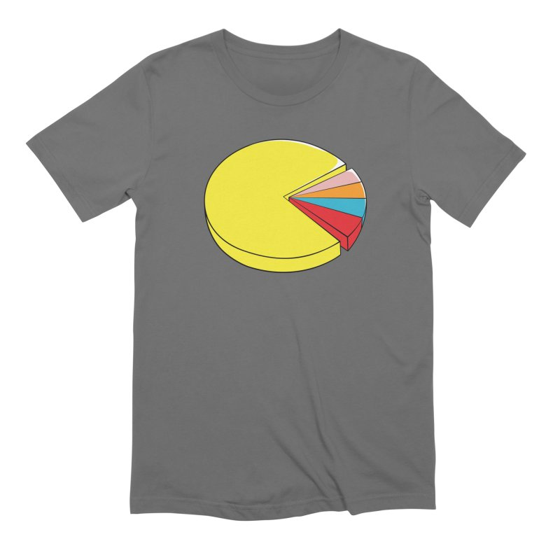 Pacman Pie Chart Men's Extra Soft T-Shirt by DavidBS