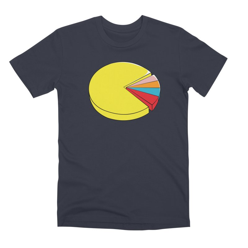 Pacman Pie Chart Men's Premium T-Shirt by DavidBS