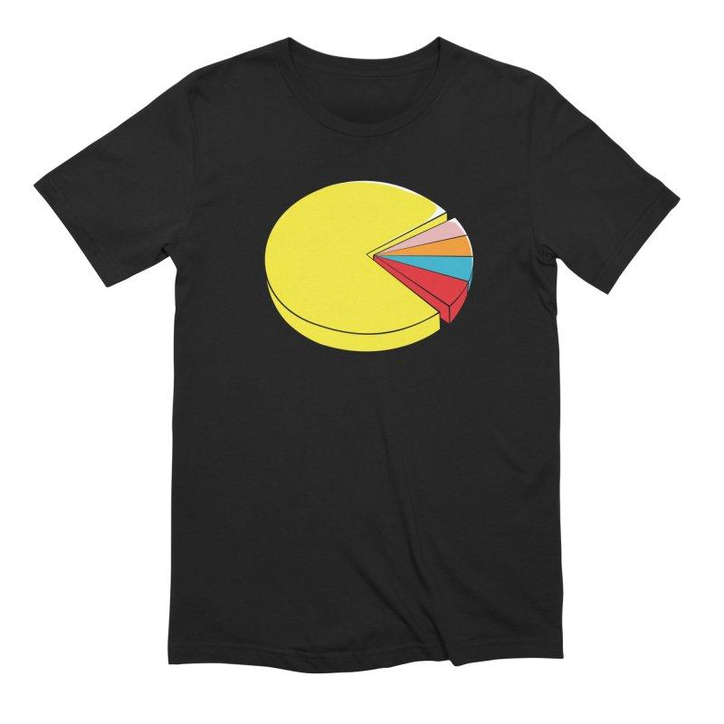Pacman Pie Chart Men's Extra Soft T-Shirt by DavidBS