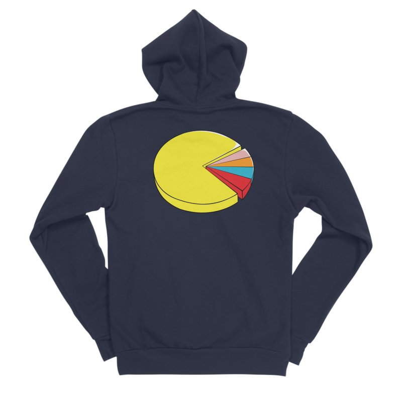 Pacman Pie Chart Men's Sponge Fleece Zip-Up Hoody by DavidBS